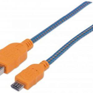 VT- 39402-CABLE-USB-V2.0-A-MICRO-B-1.0-AZUL-NARANJA-VISIONTECMX